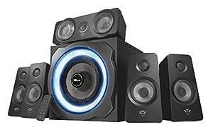 sonido: Trust Tytan GXT 658 - Sistema de Altavoces 5.1 con Iluminación LED y Sonido Envo...