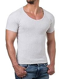 Young Rich Herren T-Shirt V-Neck Body Fit Schwarz Weiß Grau ... b655c686f7