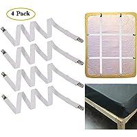 BESTOMZ Attaches Draps R/églable Tendeur de Draps Bretelles Sangle de Maintien de Draps et Couvertures 4 Pi/èces