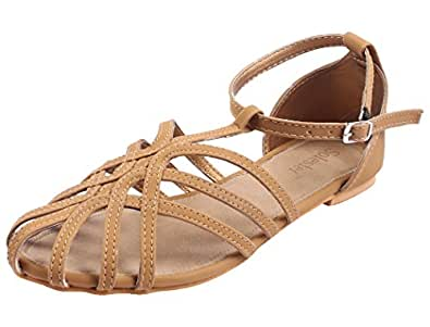 Solester Debbie Brown Flat Sandals-41 EU/8 UK