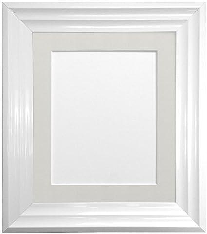 Frames By Post Firenza weiß Wanderjacke RMP010Bilderrahmen mit Passepartout, hellgrau, 50x70cm Pic Size 24