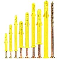 LOERO Acero Pernos Kit Enchufe De Pared, 60-160M M Self Tapping Tornillo Surtido Kit, Tornillos De Expansión Conjuntos, 200 PCS,M10*80
