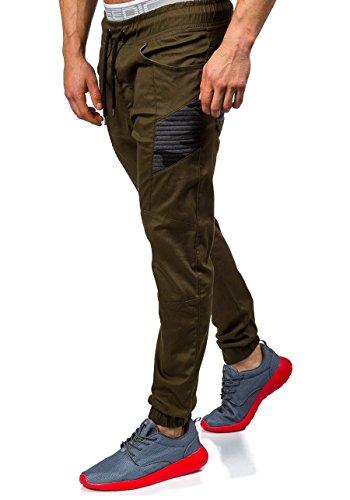 BOLF �?Pantaloni sportivi �?Training pantaloni �?Sport �?Motivo �?Uomo [6F6] Cachi