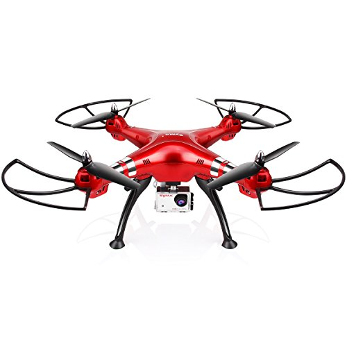 Syma X8HG (Upgrade Syma X8G) 2,4 GHz 6-Achsen-Gyro RC Ferngesteuerte Quadcopter Drone Quadrocopter Drohne mit 8MP HD-Kamera Einen Höhenstabilisator-Rote