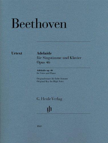 Adélaïde Opus 46 --- Voix Haute / Piano