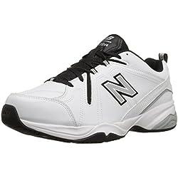New Balance Men's MX608V4 Training Shoe, White/Black, 15 D US