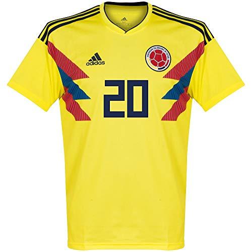 Player Print - adidas Performance Kolumbien Home Trikot 2018 2019 + J.Quintero 20 - XS - Adidas Kolumbien Fußball