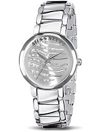 Miss Sixty SHW008 - Reloj analógico de cuarzo para niña con correa de aluminio, color plateado