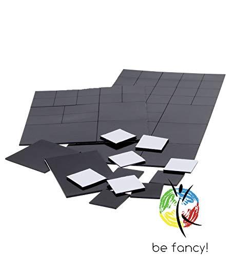 be fancy! Premium Magnet Plättchen Selbstklebend und Haftstark zur unsichtbaren Befestigung von Postern, Fotos und Bilder, verschiedene Größen