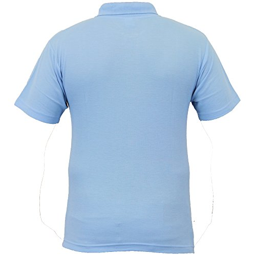 Jungen 2er Packung Polo T-shirts Schuluniform Piquet Kinder Sommer Kragen Neu Sky - POLOD