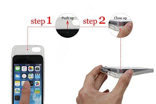 APPLE IPHONE SE 5 5S Hülle Pacyer ® Weich Silikon TPU Schutzhülle Ultradünnen Case für Apple iPhone 5 /5S/SE Schutz Hülle ( Mädchen Häschen) (1) 1