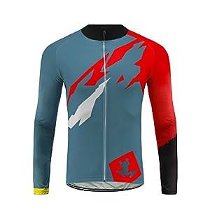414tNJ1dg9L. SS300 Uglyfrog Ciclismo Abbigliamento Uomo Termico Vello Inverno/Autumn da Bici Manica Lunga e Pantaloni Completo Confortevole…
