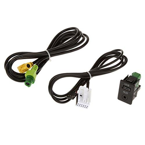 Shiwaki Interrupteur Auxiliaire Et Connecteur Câble USB pour BMW 3 Série 5 E87 E90