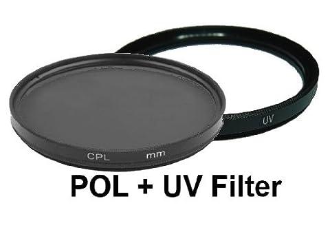 equipster UV + Polfilter Set für Nikon AF-S Nikkor 85mm f1.8 G