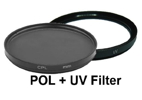 equipster UV + Polfilter Set für Canon EF-S 18-135mm f3.5-5.6 IS STM