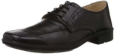 Redtape Men's Black Leather Formal Shoes - 11 UK