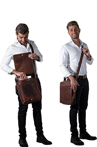 MATADOR ECHT Leder Umhängetasche Schultertasche Herren / Damen Messenger Bag Vintage Braun Tan