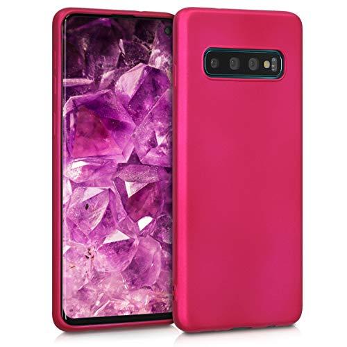 kwmobile Samsung Galaxy S10 Hülle - Handyhülle für Samsung Galaxy S10 - Handy Case in Metallic Pink