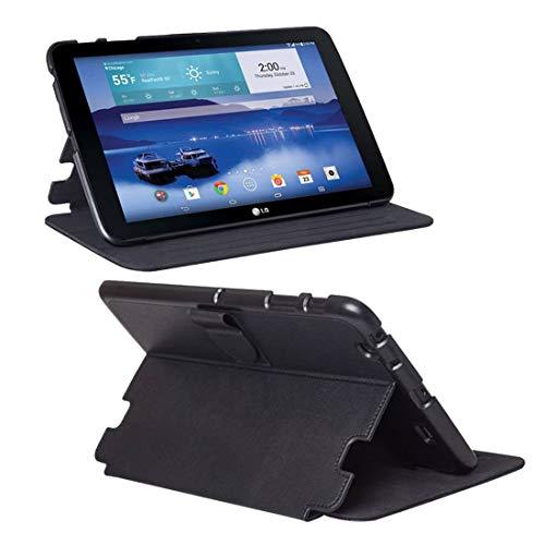 LG G Pad 10.1 LTE Hülle, Folio Case Premium Hybrid Stoßfeste Schutzhülle für LG G Pad 10.1 LTE - Schwarz (Verizon Lg Screen Protector)