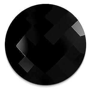 Amello Acryl Coinsschmuck Damen schwarz Kunststoff 30 mm Coin ESC708S