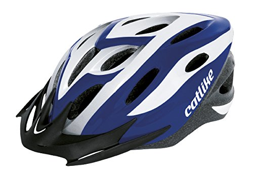 Catlike Xena - Casco de ciclismo, color azul/blanco, talla MT (52-58 cm)