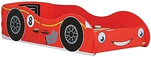 Kidsaw Racing Car Junior Bed, Wood, Red