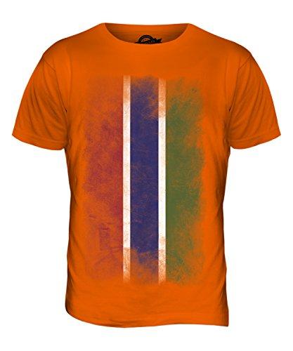 CandyMix Gambia Verblichen Flagge Herren T Shirt Orange
