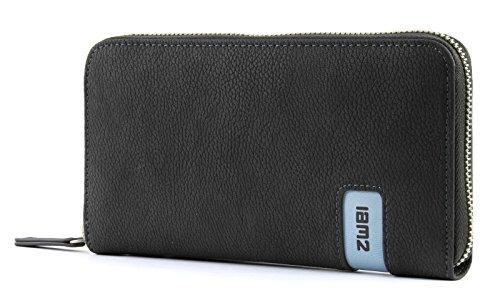 Zwei Wallet MW2 Reißverschluss Geldbörse Portemonnaie Geldbeutel Brieftasche, Farbe:Nubuk Stone