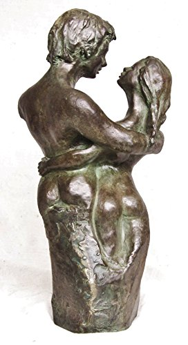 Liebendes Paar, Skulptur Figur Statue, Kaltguss-Bronze