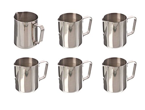 414tQZo1WjL - Chytaii 350ml Espresso Coffee Frothing Stainless Steel Milk Jug Milk Pitcher Milk Frothing Pitcher