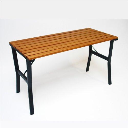 """DEMA Gartentisch""""Modern"""" 110 cm Holz/Metall"""