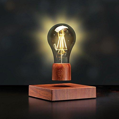 VGAzer Magnetschwebebahn Floating Wireless LED-Glühbirne Schreibtischlampe für einzigartige Geschenke, Room Decor, Nachtlicht, Home Office Dekor Schreibtisch Tech Spielzeug