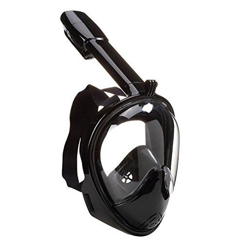 Tauschmask und Schnorchelmaske verschiedene Farben (Schwarz, S)