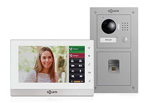 Goliath 2 Draht Video Gegensprechanlage, Unterputz HD Türstation 150°, Edelstahl, App mit...