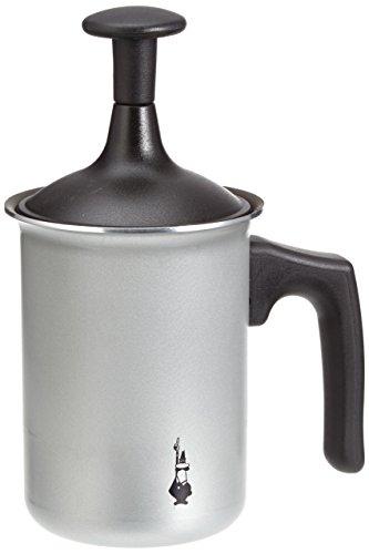 Glas-herd-kaffeemaschine (Bialetti Tutto Crema Milchaufschäumer mit Doppelsieb für einen stabilen Milchschaum)