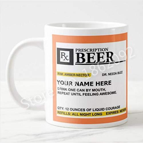HUYHUY Lustiger Bier-Verordnungs-Becher-Personalisiertes Bier Kaffeetassen-Schalen-Neuheits-Kreatives Bier Cemaric Cup