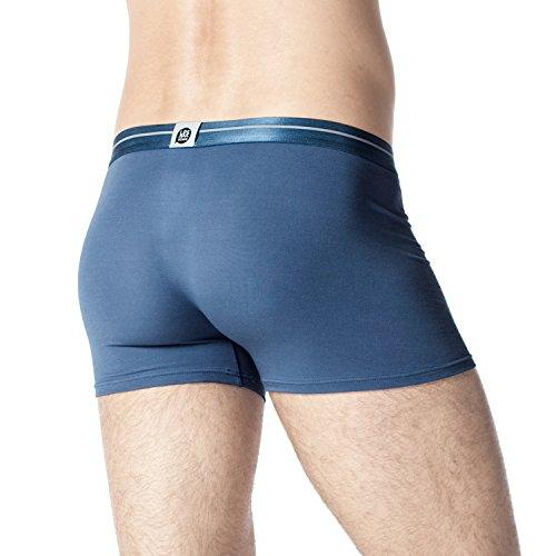 Lapasa Herren Boxershorts, 4er Pack Men's Underwear, Micro Modal - seidenweich, Herren Unterhosen, Herren Retroshorts, M002 Navy Blau