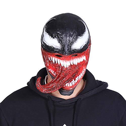 play Gift Maske Schmelzender Gesichtslatex Kostüm Halloween-Stütze Gruselige Maske,1 ()