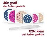 """160 Stück Gatapex Akupunkturpflaster rund, gemischt, gemischt, """"groß"""" und """"klein"""" + 1 Pinzette"""