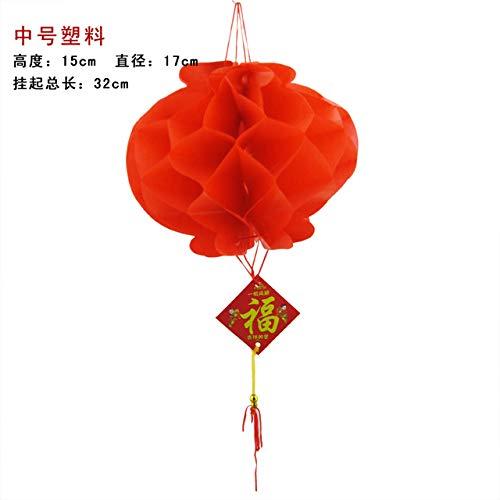 Casavidas Spring Festival Lanterns Plastic Chinese Paper Lantern Chinese New Year Decoration Red Lamps Wedding Party Lanters 20pcs/Lot: M (Lantern Chinese Paper)