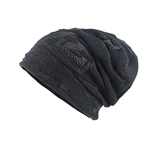 MMLC Long Beanie Mütze, leicht und weich für Damen Wintermütze (Navy) -
