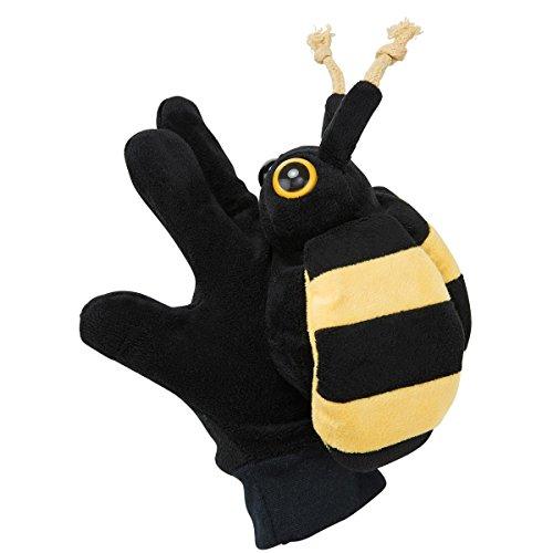 BUTLERS Wild Guys Handpuppe Biene - schwarz-gelb - Polyester, Baumwolle, ABS, EVA - 16 x 9 x 20 cm (Schwarz Puppe Guy)