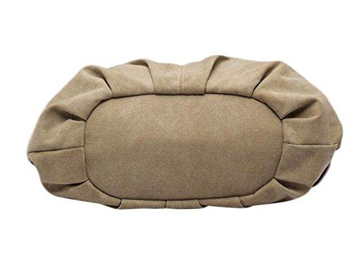 épaule De Tissu De Mode Diagonale Sac En Toile De Sac à Main Mme Boulettes Grande Capacité brown