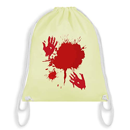 (Halloween - Blutig Fasching Kostüm - Unisize - Pastell Gelb - WM110 - Turnbeutel & Gym Bag)
