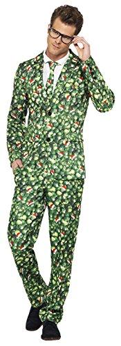 Fancy Ole - Herren Männer Karneval Weihnachten Kostüm Anzug Brussel Sprout , Grün, Größe (Kostüme Mann Lebkuchen)