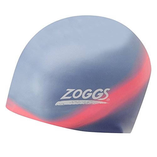 Zoggs Pro Zoggs Erwachsenen-Badekappe Multi Coloured mit Schwimmer Herren Damen-Schutz, Herren, EXPERT SWIMMER COLOUR 8428, blau/rot (Krawatte Schwimmer)
