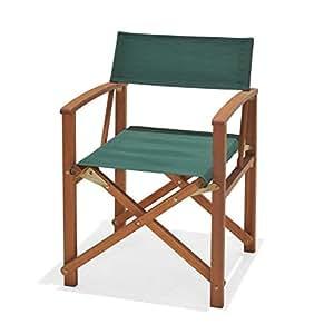 chichester chaise de r alisateur pour jardin en bois d 39 eucalyptus certifi fsc avec tissu. Black Bedroom Furniture Sets. Home Design Ideas