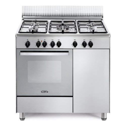 cocina A Gas 5fuegos Horno eléctrico Multifuncional con grill 90x 60cm