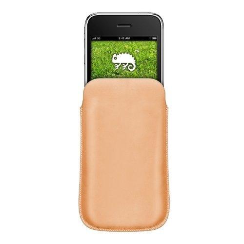 Katinkas KATIP31063 Ledertasche für Apple iPhone 3G/3GS Pouch Creme Iphone 3g Leder-holster