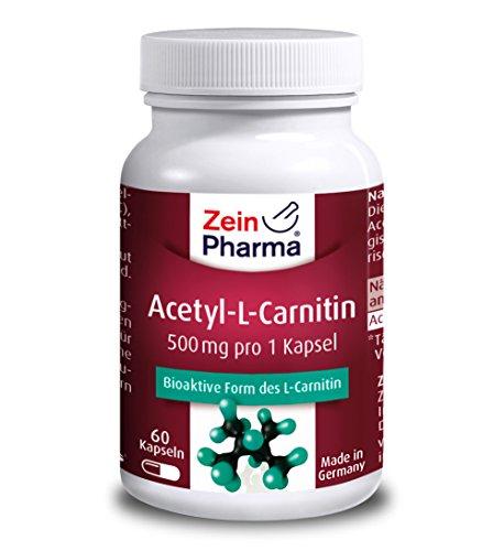 Acetyl L-Carnitin | 1500 mg Tagesdosierung| 60 veg. Kapseln | Premiumprodukt | 1 Monatsration | Stark & Hochdosiert | Herrvoragende Qualität | 100% Biologisch aktive Form | Hergestellt in Deutschland | Deutsche Labore
